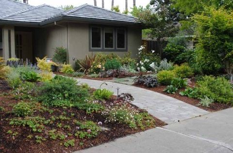 Love this whole post side paths stones for raising bed for Exterior design lodi ca