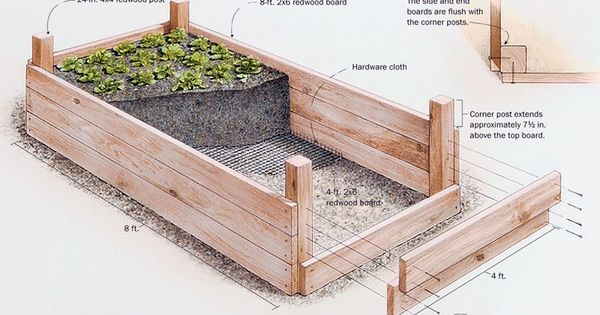 How build arrange raised bed vegetable garden, Raised bed vegetable garden is