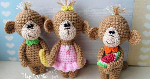 Amigurumi Monkey Patron Gratis : Amigurumi Mini Monkey-Free Pattern Toys, Free pattern ...
