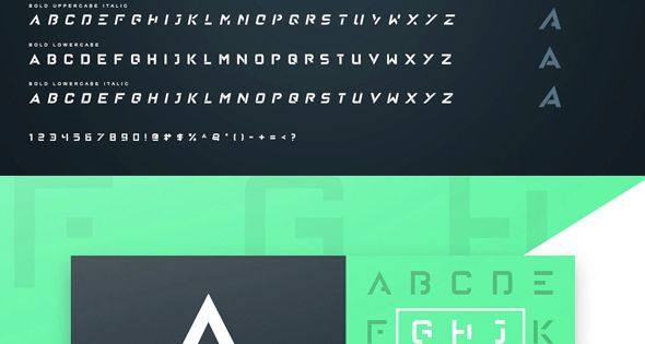 Raleigh Font – A futuristic yet modern stencil-esque font that's great for big titles and small subtexts