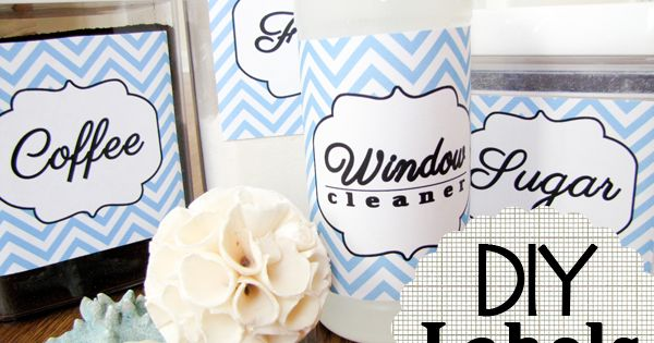 DIY Pantry and Cleaning Labels by Gretchen of newfashionedmom.com You can print