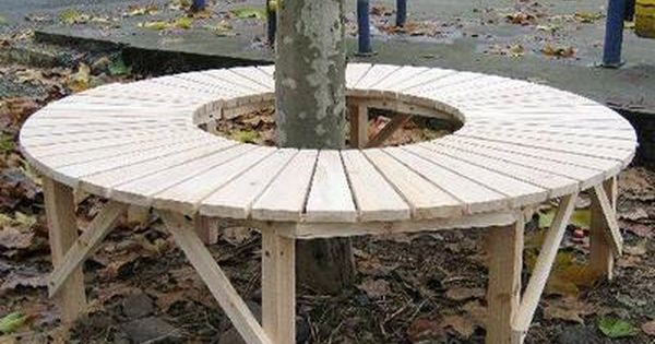 How To Build A Circular Bench Around A Tree Rustic