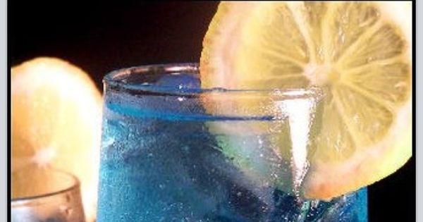 Electric Lemonade   Cobalt blue wedding -- signature cocktail?