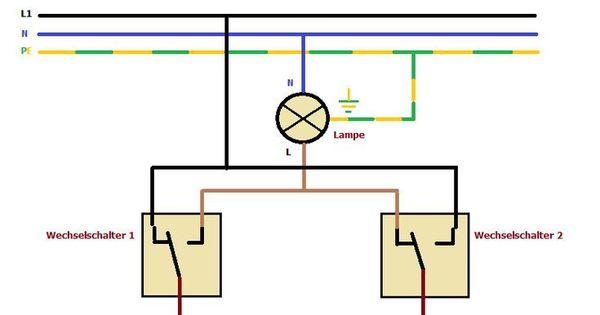 Sparwechselschaltung Bei Der Elektroinstallation In 2020 Elektroinstallation Elektroinstallation Haus Elektroinstallation Selber Machen