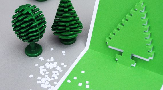 How to Make Christmas Pixel Popup Cards by minieco Dream Cars| http://my-dream-cars-collections-562.blogspot.com