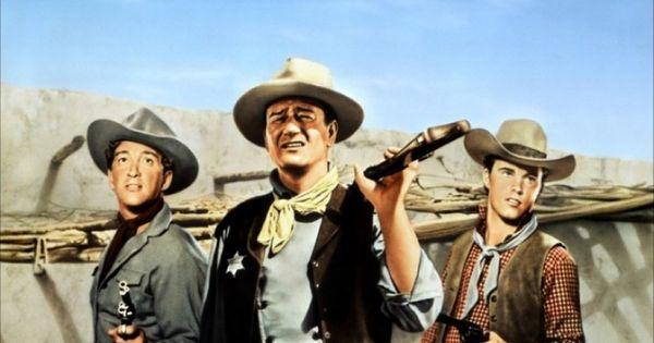 Rio Bravo (1959). John Wayne, Dean Martin and Ricky Nelson ...