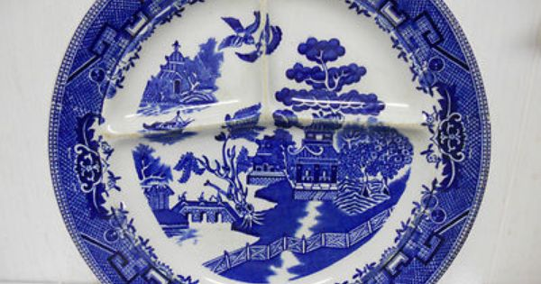 Shenango China New Castle Pa Blue Willow Ware Divided
