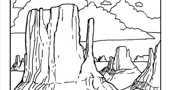 north carolina tar heels coloring pages | Monument Valley Coloring page at GilaBen.com | Arizona ...