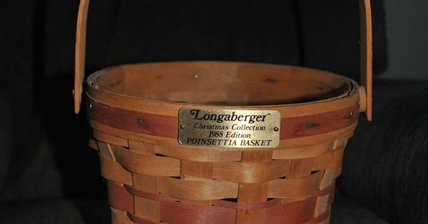 Longaberger Extra Small Foyer Basket : Longaberger christmas collection edition poinsettia