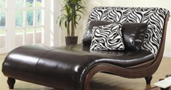 Eye catching zebra animal print faux leather chaise for Animal print chaise longue