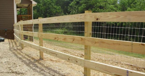 Post Rail Horse Fencing With Wire Spotted Oak Farm