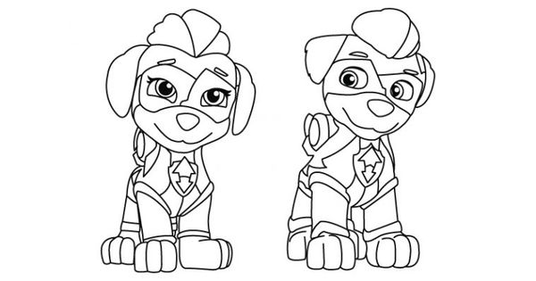 Mighty Twins 8211 Paw Patrol Coloring Page Paw Patrol Coloring Paw Patrol Coloring Pages Paw Patrol