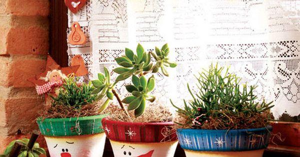 Decoraci n para el jard n ideas navidad pinterest for Decoracion jardin macetas