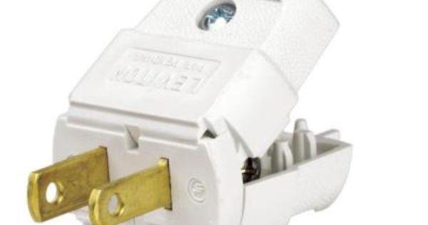Leviton 15 Amp 125 Volt Light Duty Plug R52 00101 0wp With Images Leviton