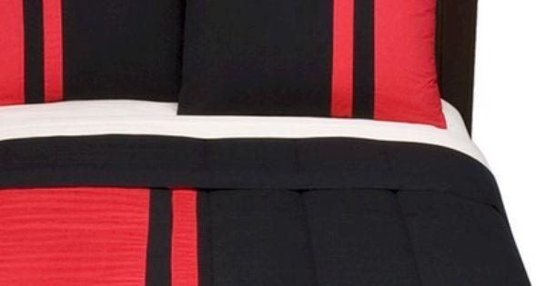 Room Essentials Rugby Stripe Comforter Set Blackred Bedroom Inspirations Comforter Sets Room Essentials