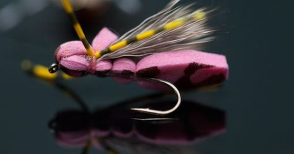 Purple Gfa Foam Hopper Tutorial Fly Fishing Flies Trout Fly Tying Fish