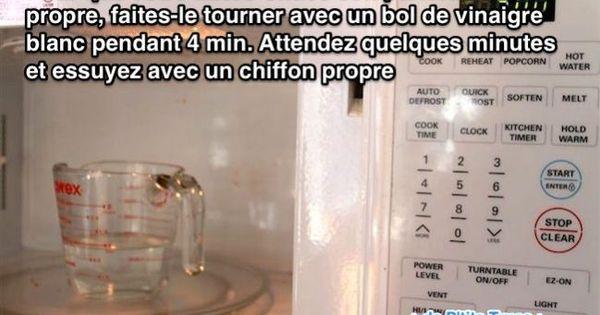 Le vinaigre blanc pour nettoyer votre micro ondes sans for Vinaigre blanc et fosse septique