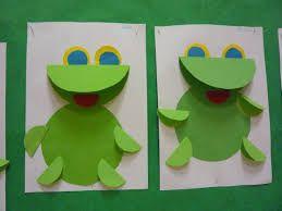 Znalezione Obrazy Dla Zapytania Prace Plastyczne Wiosna Przedszkole Frog Crafts Preschool Animal Crafts For Kids Butterfly Art And Craft