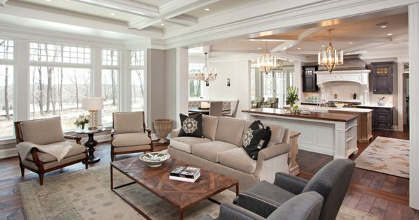 Kitchen Dining Living Room Just Love The Layout Decorating Ideas