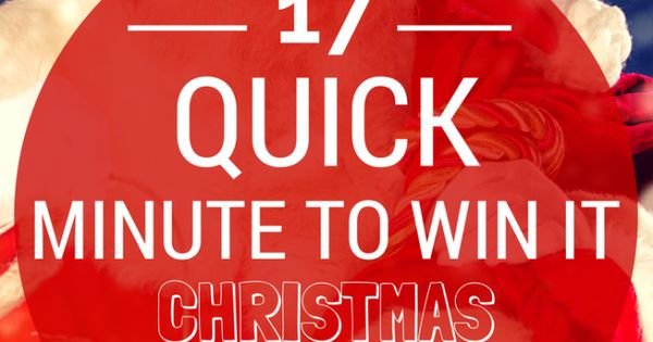 Looking for some quick Minute To Win It Christmas games for your