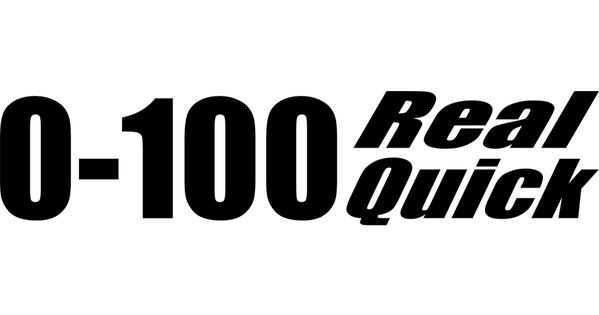 Motorcycle Decal 0 100 Real Quick 2 Pack Motorcycle Decals Fast Bikes Real Quick