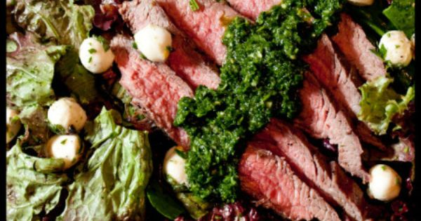 Flank Steak Salad with Chimichurri Dressing | Flank Steak Salad, Steak ...