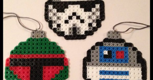 Star Wars Christmas Ball Ornaments perler beads by K8BitHero. My dad is