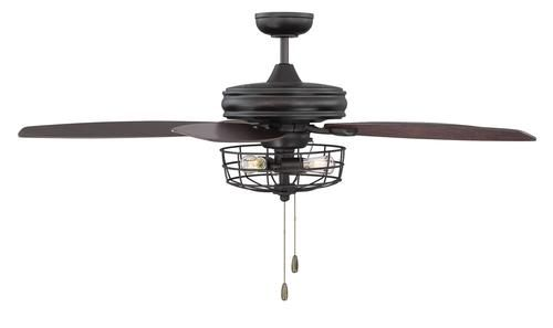 3 Light Oil Rubbed Bronze Ceiling Fan With Metal Wire Cage Bronze Ceiling Fan Ceiling Fan Metal Wire