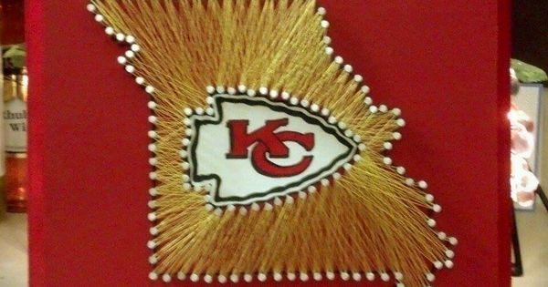 Kansas City Chiefs String Art State String Art String