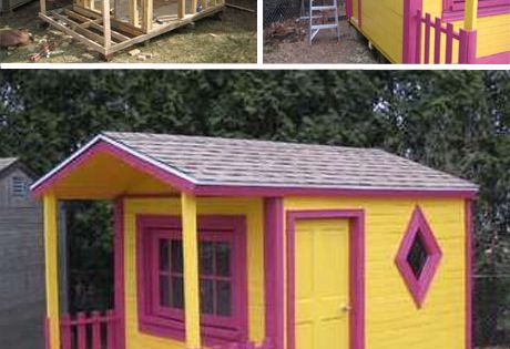 DIY Pallet play house, great idea for the kids!