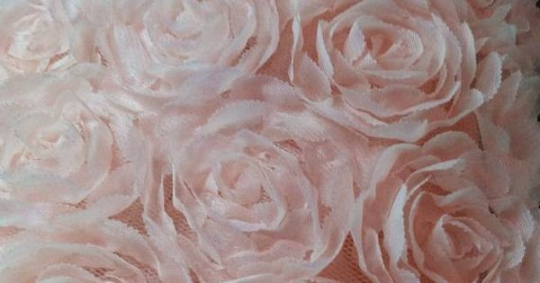 5yards 3D Chiffon Rosette Blossom Trim Chiffon Fabric Flowers wedding decors 3d rose flowers trim prop backdrop handmade chiffon flowers 5CM
