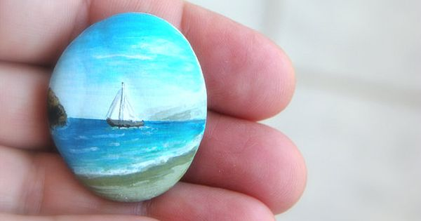 painted stones . I have some like this from our summers at