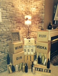 Use Old Wine Crates And Spray Painted Bottles To Show That Your