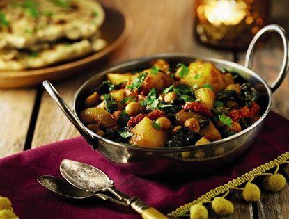 Potato Spinach Chickpea Curry Aldi Recipes Spinach