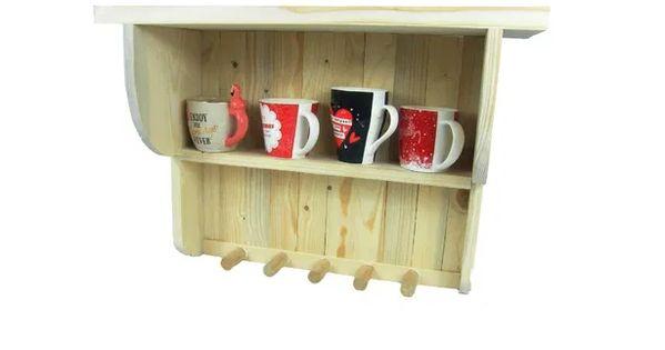 Polka Do Kuchni Lazienki Wieszak Na Kubki Lub Reczniki Drewno Shelves Floating Shelves Home Decor