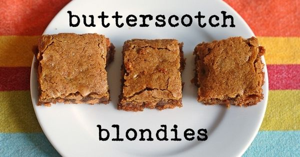 salted butterscotch blondies. have always loved butterscotch/caramel more than chocolate. mmm