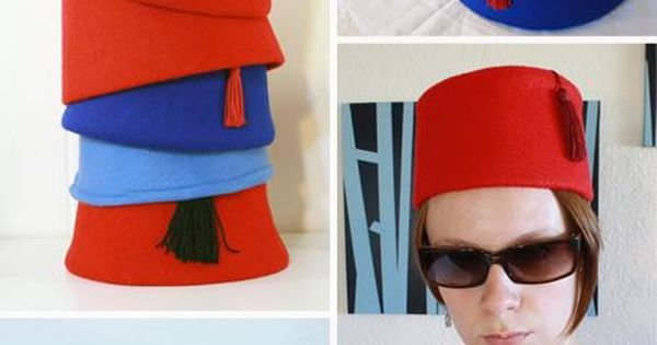 http://ladiescostumediscounts.digimkts.com/ DIY Tutorial: DIY Women Halloween Costumes / DIY homemade fezzes and