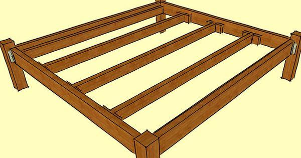 construire un cadre de lit en bois wooden beds wooden bed frames and bed frames. Black Bedroom Furniture Sets. Home Design Ideas
