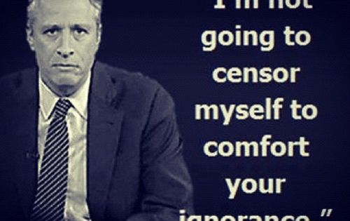 Well said Jon Stewart! A personal hero!