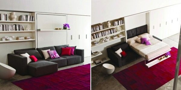Living Room By Day Bedroom By Night Who Would Have Thought The Tiny Ledge Above The Sofa Multipurpose Furniture Bed Space Saving Furniture Resource Furniture
