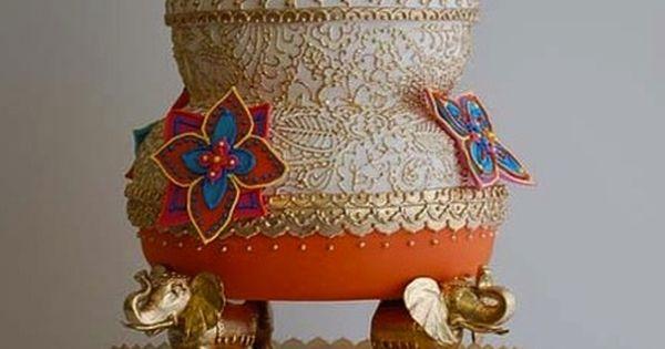 Gâteau  cake  Pinterest  Beautiful, Mariage et Gâteau indien
