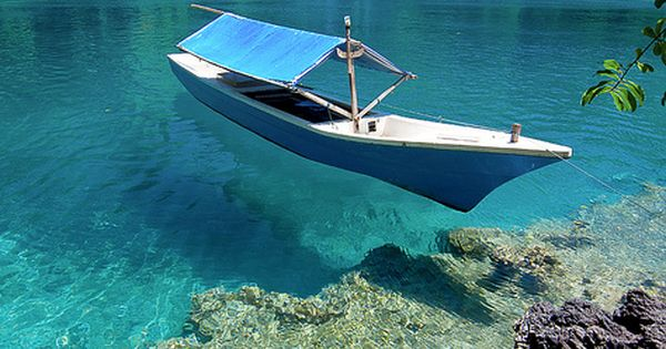 Beautiful clear waters in Ternate Island, North Maluku, Indonesia. Photo by Abdul