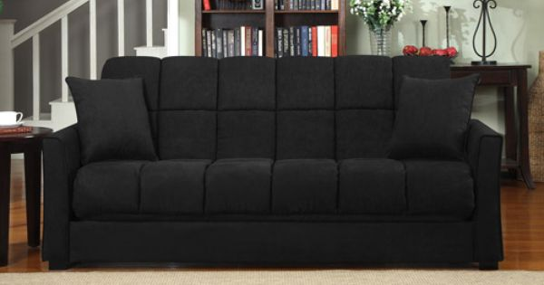 Mainstays Baja Microfiber Futon Sofa Sleeper Bed Multiple