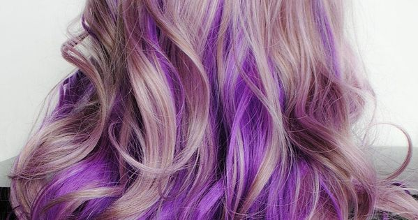 Lilac Frost Lavender Pastel Purple Ombre Hair Curly