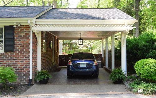 Building A Garage Or Carport Pergola Pergolas Concrete