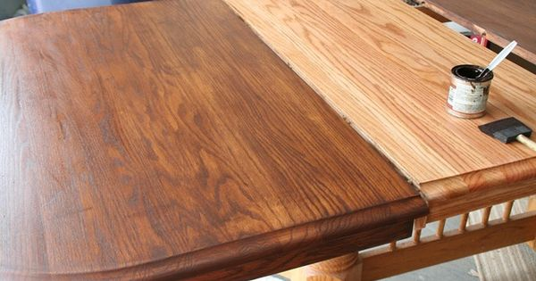 how to refinish and stain a table  sand wood conditioner