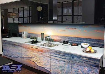 3d Panel 3d Glass Panel 3d Backsplash 3d Kitchen Backsplash 3d