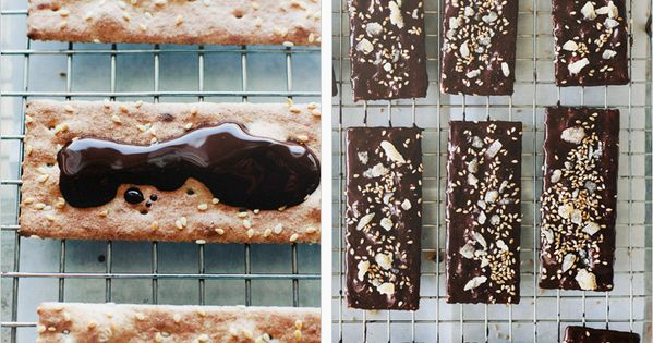 dark chocolate ginger flat bread
