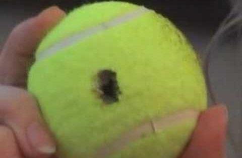 Unlocking a car with a tennis ball... I'll be so happy I