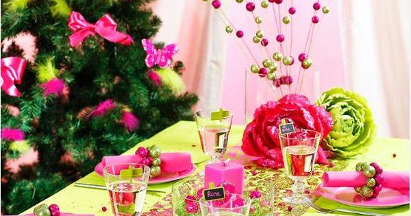 table colorée  TABLES EN FETE  Pinterest  Déco, Noël et ...